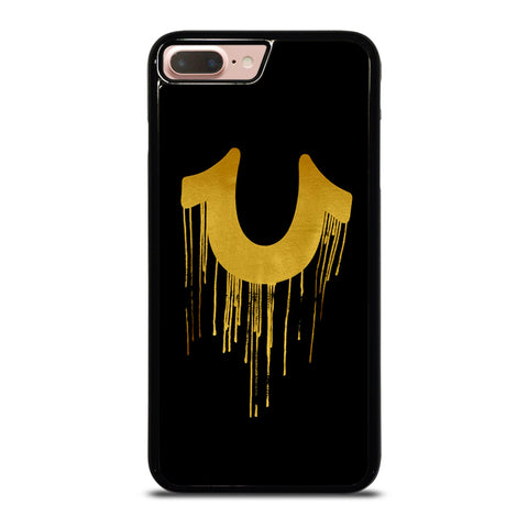 TRUE RELIGION GOLD BLACK LOGO-iphone-8-plus-case