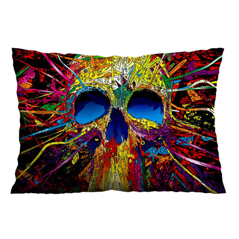 VINTAGE ARTISTIC SKULL Pillow Case Cover