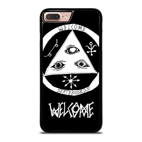 WELCOME SKATEBOARDS LOGO BLACK iPhone 8 Plus Case