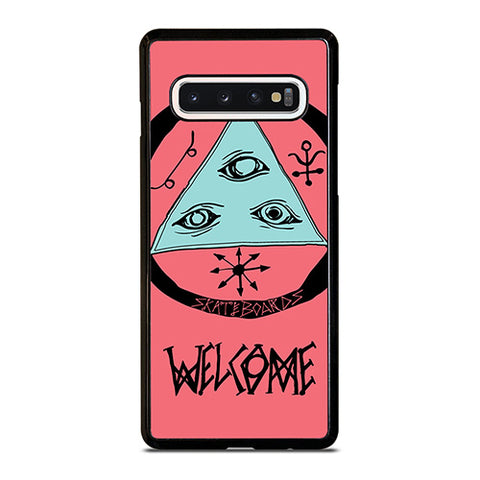 WELCOME SKATEBOARDS LOGO PINK Samsung Galaxy S10 Case