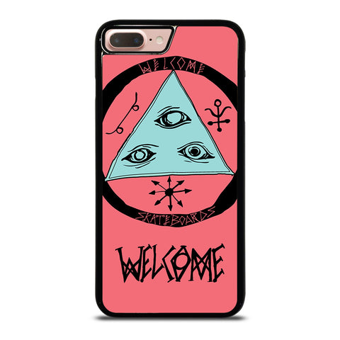 WELCOME SKATEBOARDS LOGO PINK iPhone 8 Plus Case