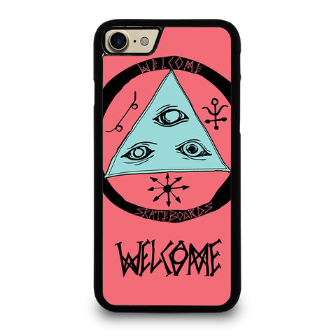 WELCOME SKATEBOARDS LOGO PINK iPhone 7 Case