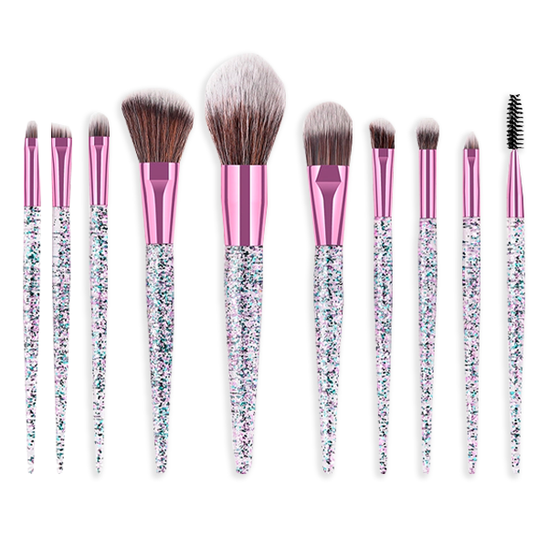 Sparkle Sass 10 Piece Makeup Brush Set
