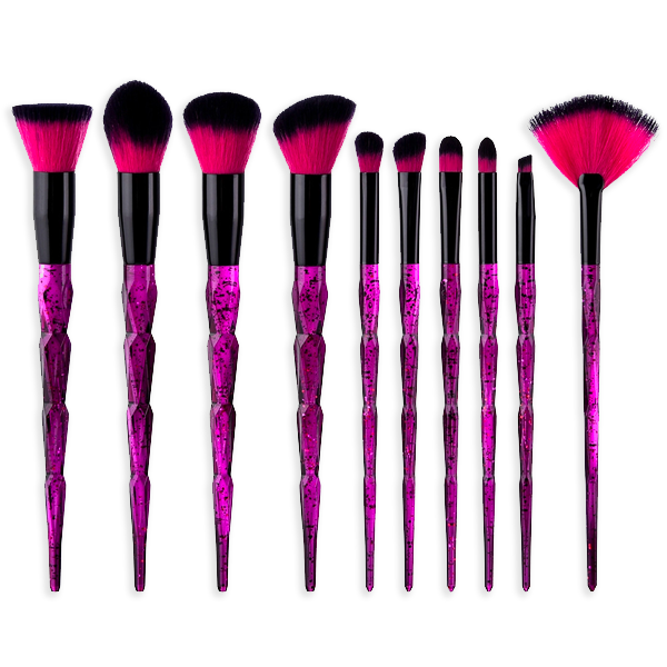 Midnight Fox 10 Piece Makeup Brush Set - BrushBabe.com