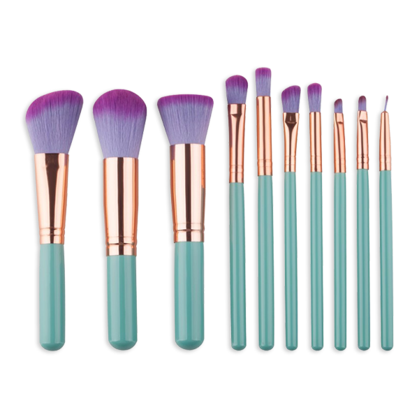 Mermaid Minis 10 Piece Makeup Brush Set - BrushBabe.com