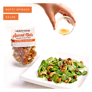 NUTTY SPINACH SALAD