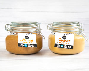 ALMOND AND PEANUT BUTTER BUNDLE . HEARTIGRUB. VEGAN NUT BUTTERS