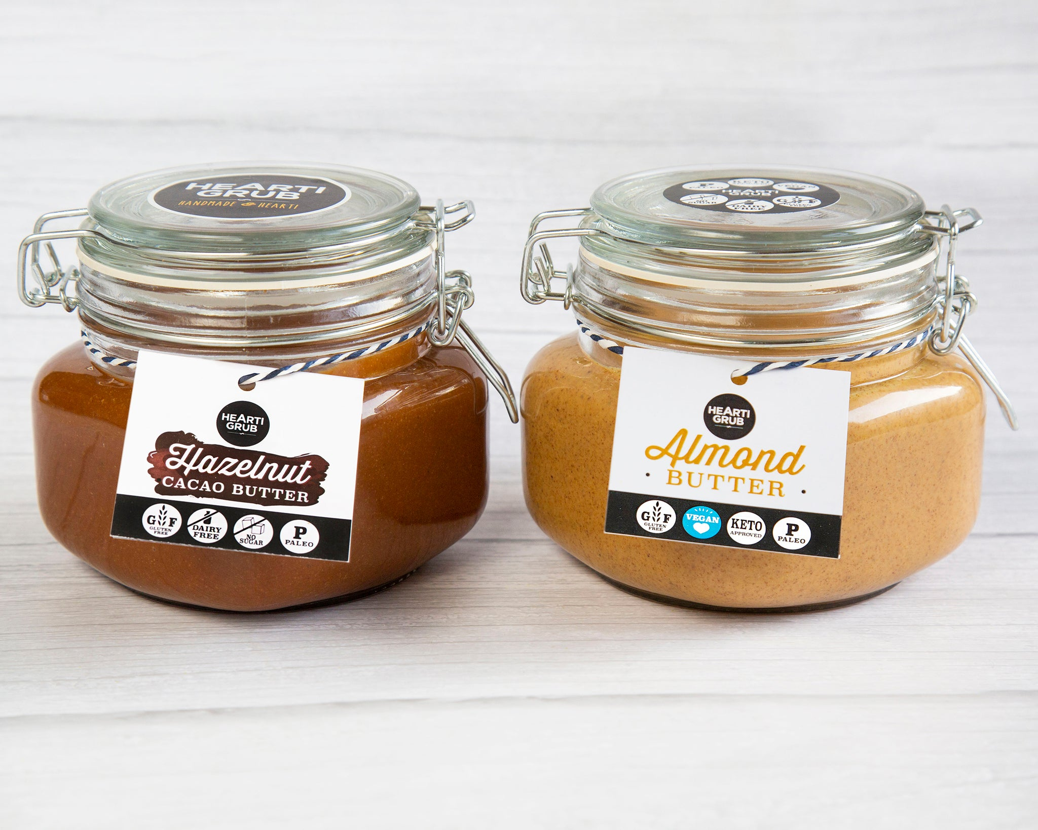 CACAO HAZELNUT & ALMOND BUTTER BUNDLE 500g