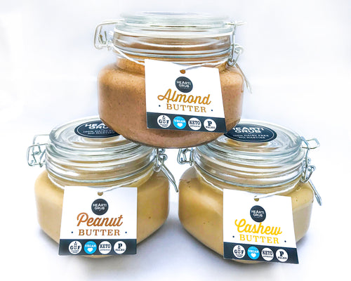 VEGAN ALMOND + CASHEW + PEANUT BUTTER BUNDLE 500g