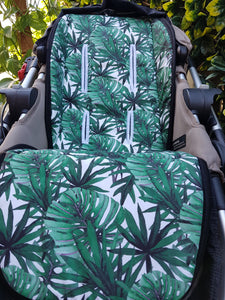 Pram Liner - Palm Tropical Leaves