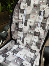 Pram Liner - Pop Up Cat Grey