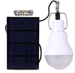 Camping Light, Solar Panel, LED Bulb