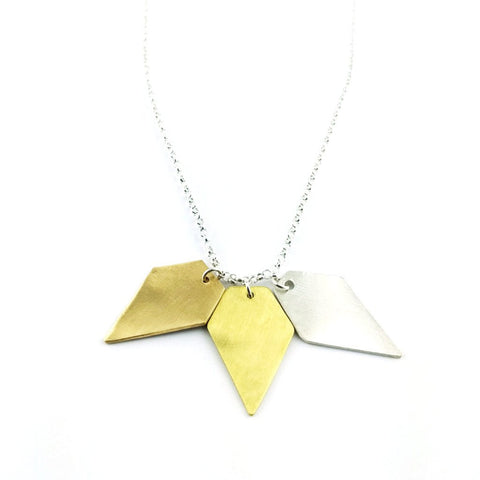 Three Arrowhead Necklace
