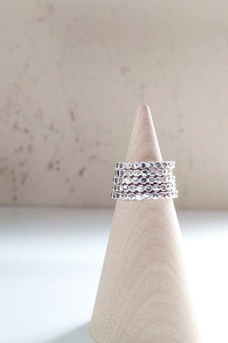 Skinny Dotted Stacking Ring