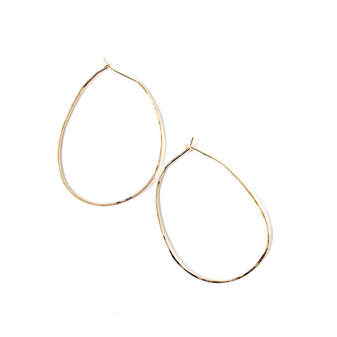 Oval Hoop Earrings1