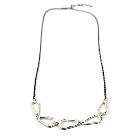Petite Trireck Link Necklace
