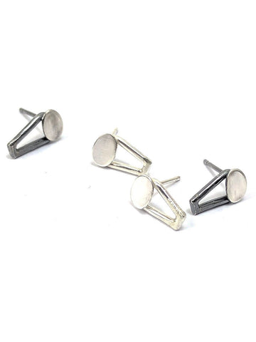 Mini Trireck & Oval Studs