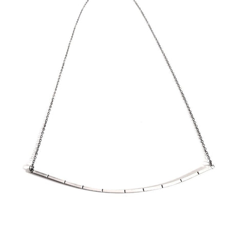 Ruled Bar Collar Necklace