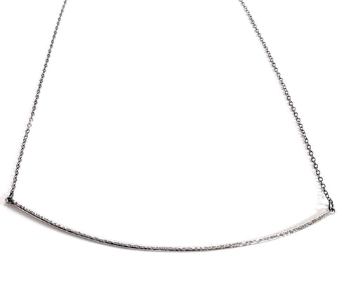 Textured Bar Collar Necklace