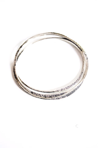 Textured Asymmetrical Bangle