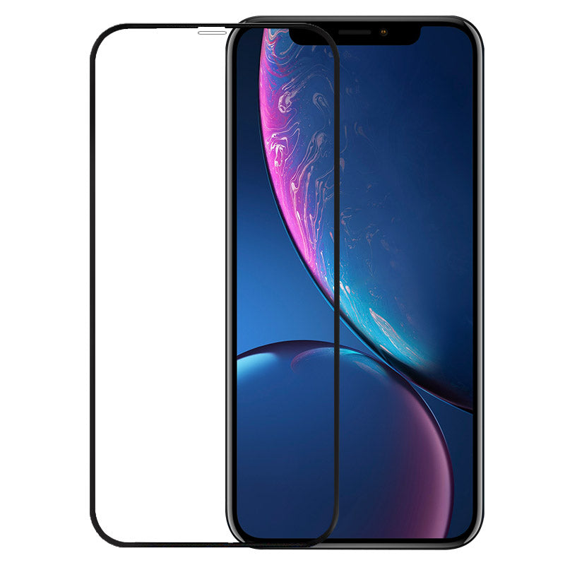 3D Black Edge To Edge Toughn Tempered Glass For iPhone XR