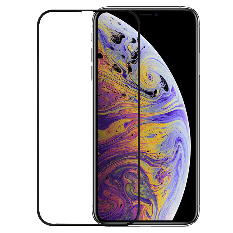 3D Black Edge To Edge Toughn Tempered Glass For iPhone XS Max