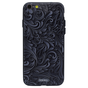 Black Grey Floral Case For iPhone 6 Plus