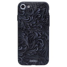 Black Grey Floral Case For iPhone 8