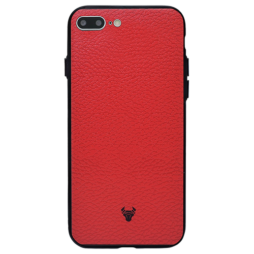 Rich Red Leather Case For iPhone 8 Plus