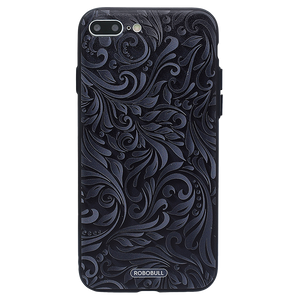 Black & Grey Floral Case For iPhone 8 Plus