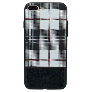 Checkered White Case For iPhone 8 Plus