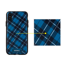 Checkered Navy Case For iPhone X