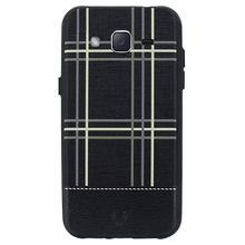 Checkered Black Case For Galaxy J2 Pro