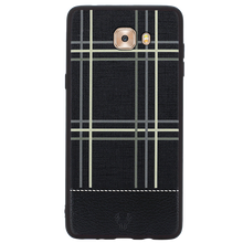 Checkered Black Case For Galaxy C9 Pro