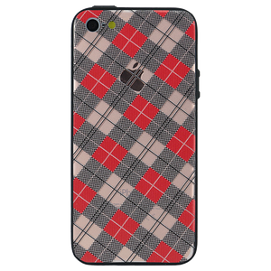 Checkered Luxe Case For iPhone SE