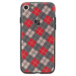 Checkered Luxe Case For iPhone 8