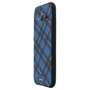 Checkered Navy Case For Galaxy J2 Pro