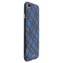 Checkered Navy Case For iPhone 8 Plus