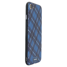 Checkered Navy Case For iPhone 8