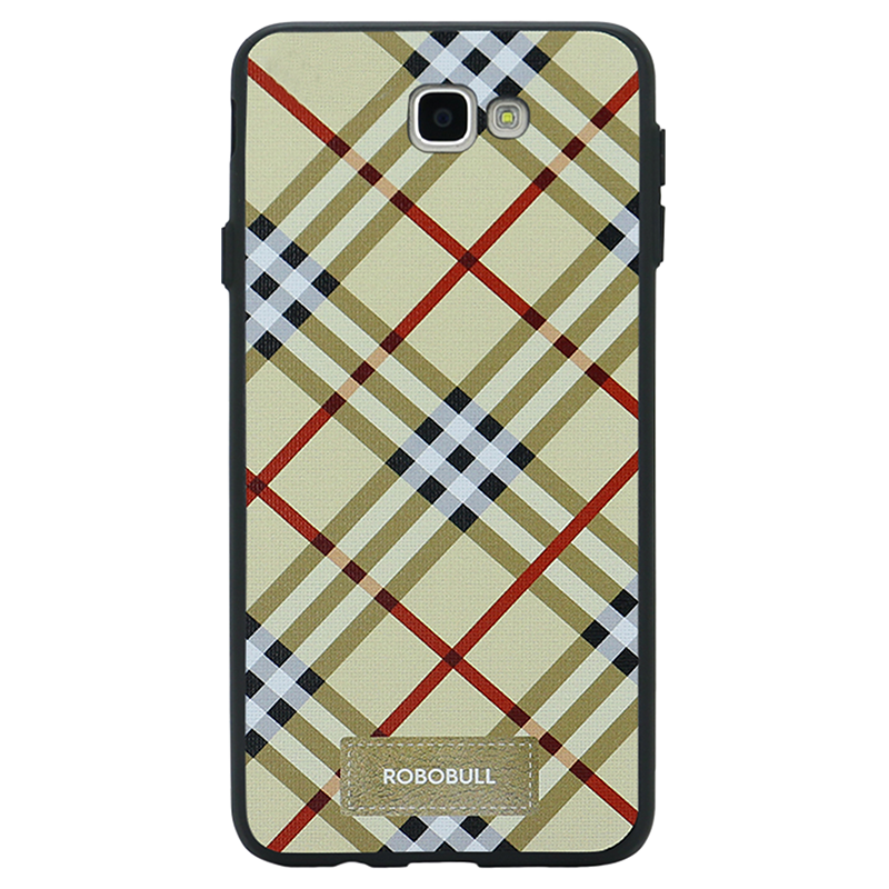 Checkered Yellow Case For Galaxy J7 Prime