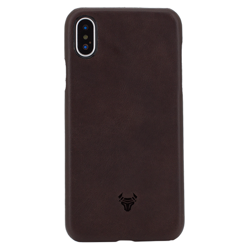 Chocolate Brown Premium Leather Case For iPhone X