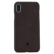 Chocolate Brown Premium Leather Case For iPhone Xs