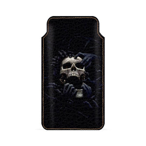 Creepy Skull Smartphone Pouch For Xiaomi Redmi 5A