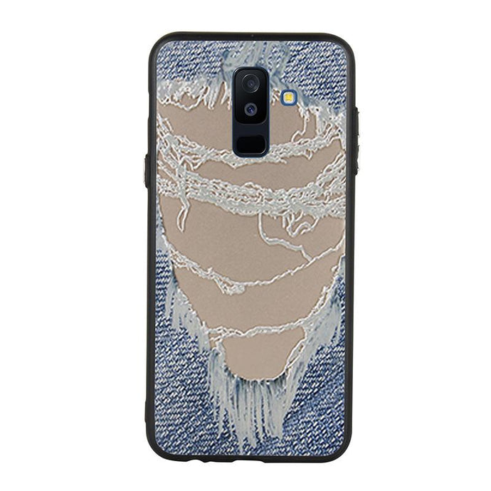 Distressed Jeans Case For Galaxy J8