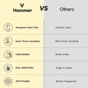 Hammer Tempered Glass Film For iPhone 8 Plus