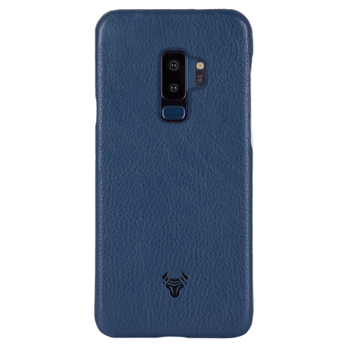 Midnight Blue Premium Leather Case For Galaxy S9 Plus