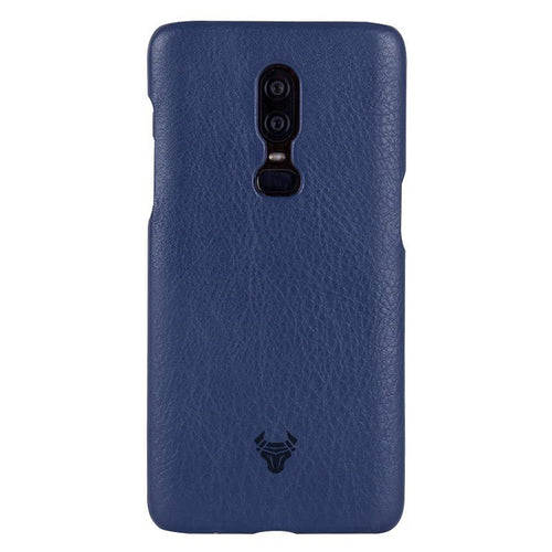 Midnight Blue Premium Leather Case For OnePlus 6