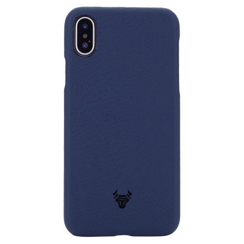 Midnight Blue Premium Leather Case For iPhone X