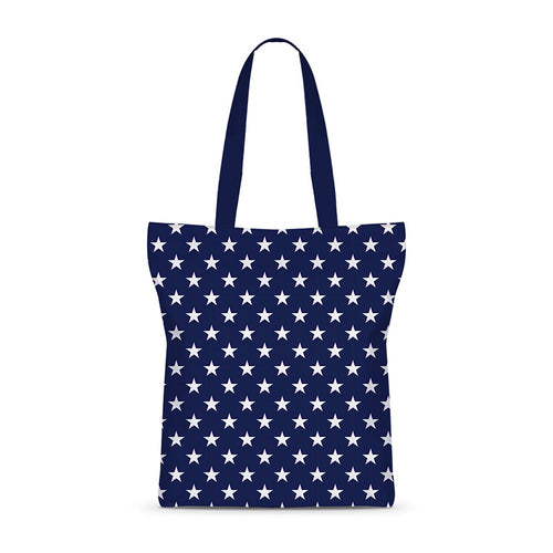 Nautical Stars Night Basic Tote Bag