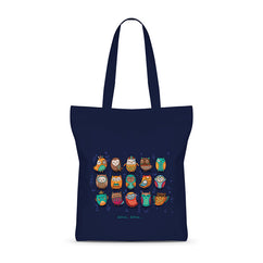 Owls Making Noise Basic Tote Bag